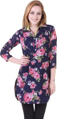 Silk Weavers Floral Print Women's Tunic