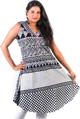 Glimmerra Printed, Checkered Women's Tunic