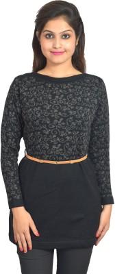 Picot Floral Print Women's Tunic