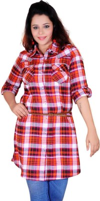 SoulRiver Checkered Women's Tunic