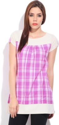 STYLE QUOTIENT BY NOI Checkered Women's Tunic