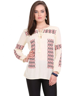 Global Colours Self Design Women's Tunic