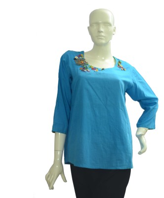 Jupi Embellished, Solid Women's Tunic