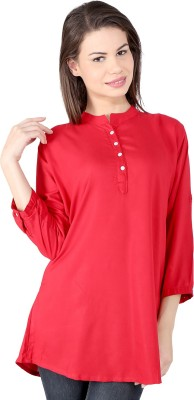 pinklady Solid Women's Tunic