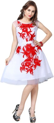 Elevate Women Women's A-line White Dress