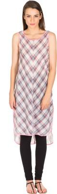 Miss Chick Checkered Women's Tunic