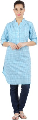 Victor Brown Checkered Women's Tunic