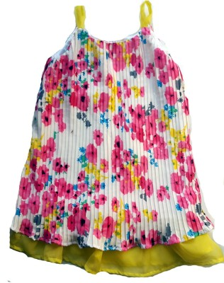 Textures Fashion Floral Print Girl's Tunic