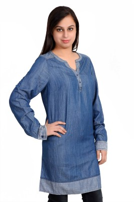 Parv Collections Solid Women's Tunic