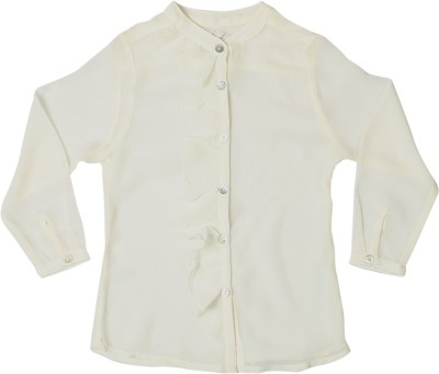 Allen Solly Casual Full Sleeve Solid Girl's White Top