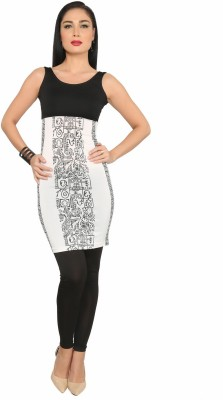 Ira Soleil Printed Women,s Tunic