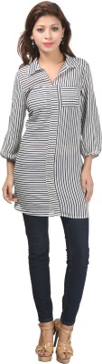 Just Wow Striped Women's Tunic