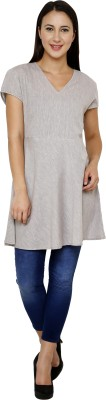 Dhrohar Women's A-line Grey Dress