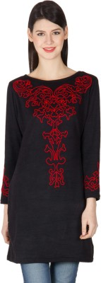 Highness Nyc Self Design, Solid Women's Tunic