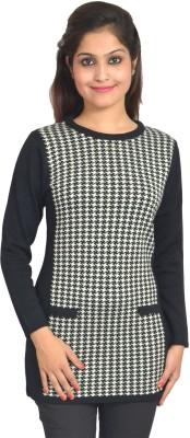 Picot Checkered Women's Tunic