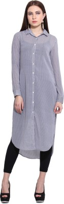 Hook & Eye Striped Women's Tunic