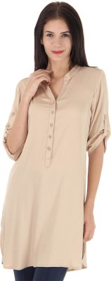 Just In Time Solid Women's Tunic
