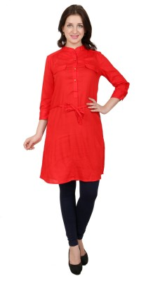 L,mode Solid Women's Tunic