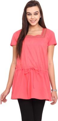 Pink Lemon Solid Women,s Tunic