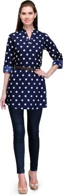 7Soft Colors Polka Print Women's Tunic