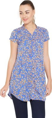 Victor Brown Floral Print Women's Tunic