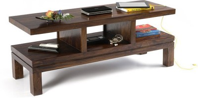 HomeEdge Solid Wood TV Console(Finish Color - Provincial Teak)