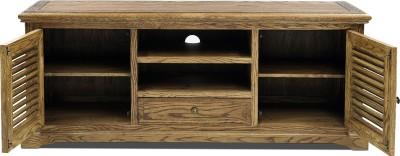 Evok Riviera Solid Wood Entertainment Unit(Finish Color - Brown)