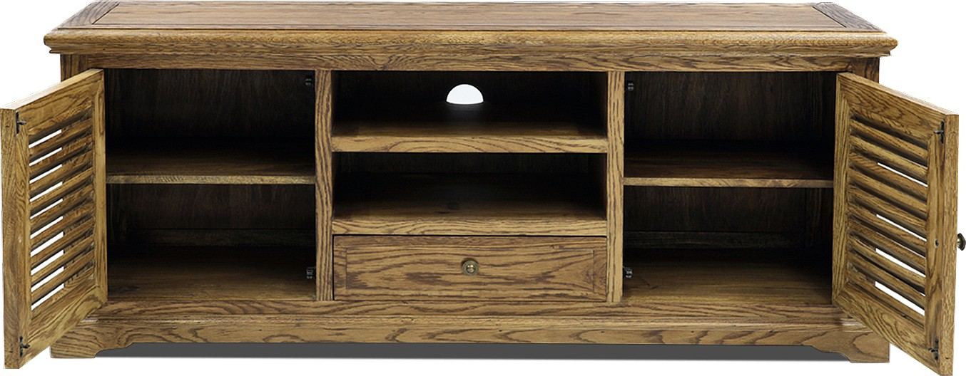 View Jivan Solid Wood Entertainment Unit(Finish Color - Brown) Furniture (Jivan)