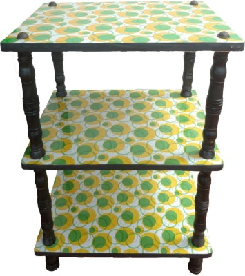 Nirmal Engineered Wood TV Stand(Finish Color - Green and yellow)