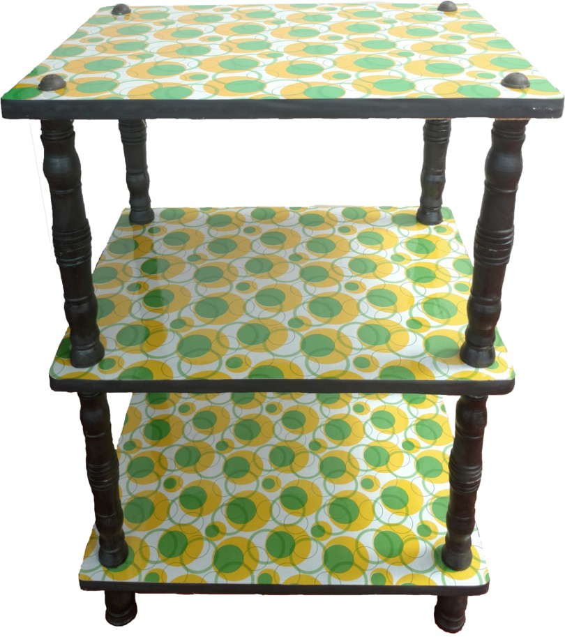 View Nirmal Engineered Wood TV Stand(Finish Color - Green and yellow) Furniture (Nirmal)