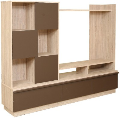 HomeTown Clovar Engineered Wood Entertainment Unit(Finish Color - Pickled oak)