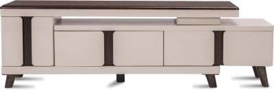 Durian Stella Engineered Wood TV Stand(Finish Color - Ivory/Brown)