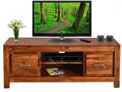 Indian Hub Solid Wood TV Stand(Finish Color - Brown)