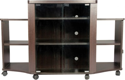 HomeTown Pacific Tv Engineered Wood Entertainment Unit(Finish Color - Walnut)