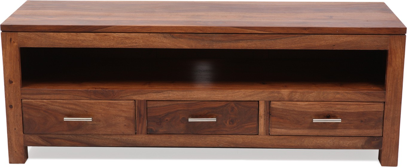 Evok Darby Solid Wood TV Entertainment Unit(Finish Color - Brown)