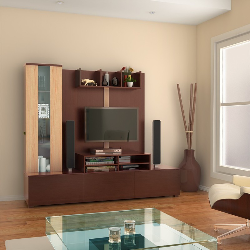 c13ec0ee7 HomeTown Hugo Engineered Wood Entertainment Unit(Finish Color - Walnut    Teak)