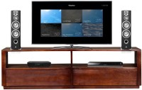 The Attic Solid Wood TV Entertainment Unit(Finish Color - Provincial Teak)