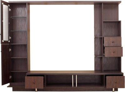 Furnicity Solid Wood TV Stand(Finish Color - Wenge)