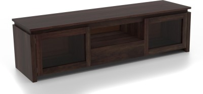 Urban Ladder Vector Glass Solid Wood TV Console(Finish Color - Mahogany)