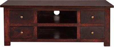 Jivan Solid Wood TV Stand(Finish Color - Coffee Roast)