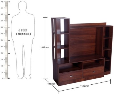 Kurlon 442/Silicon TV Unit/English Teak Engineered Wood TV Stand