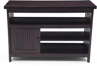 Urban Ladder Rhodes High Solid Wood TV Console(Finish Color - Mahogany)