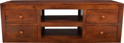 aAdinath Solid Wood Media Cabinet(Finish Color - Brown)