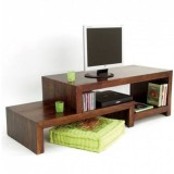 Indian Hub Solid Wood TV Stand (Finish Color - Brown)