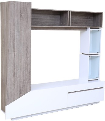 HomeTown Jasmine Engineered Wood Entertainment Unit(Finish Color - White)