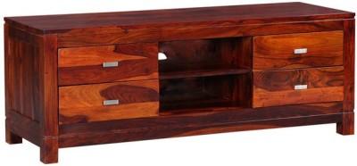 Smart Choice Furniture Rosewood (Sheesham)_JIEU03 - New_Matte finish Solid Wood Entertainment Unit