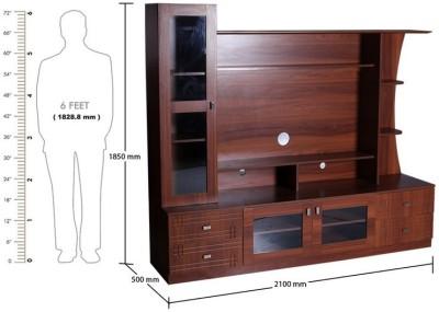 Kurlon 443/Carlos TV Unit/English Teak Engineered Wood TV Stand