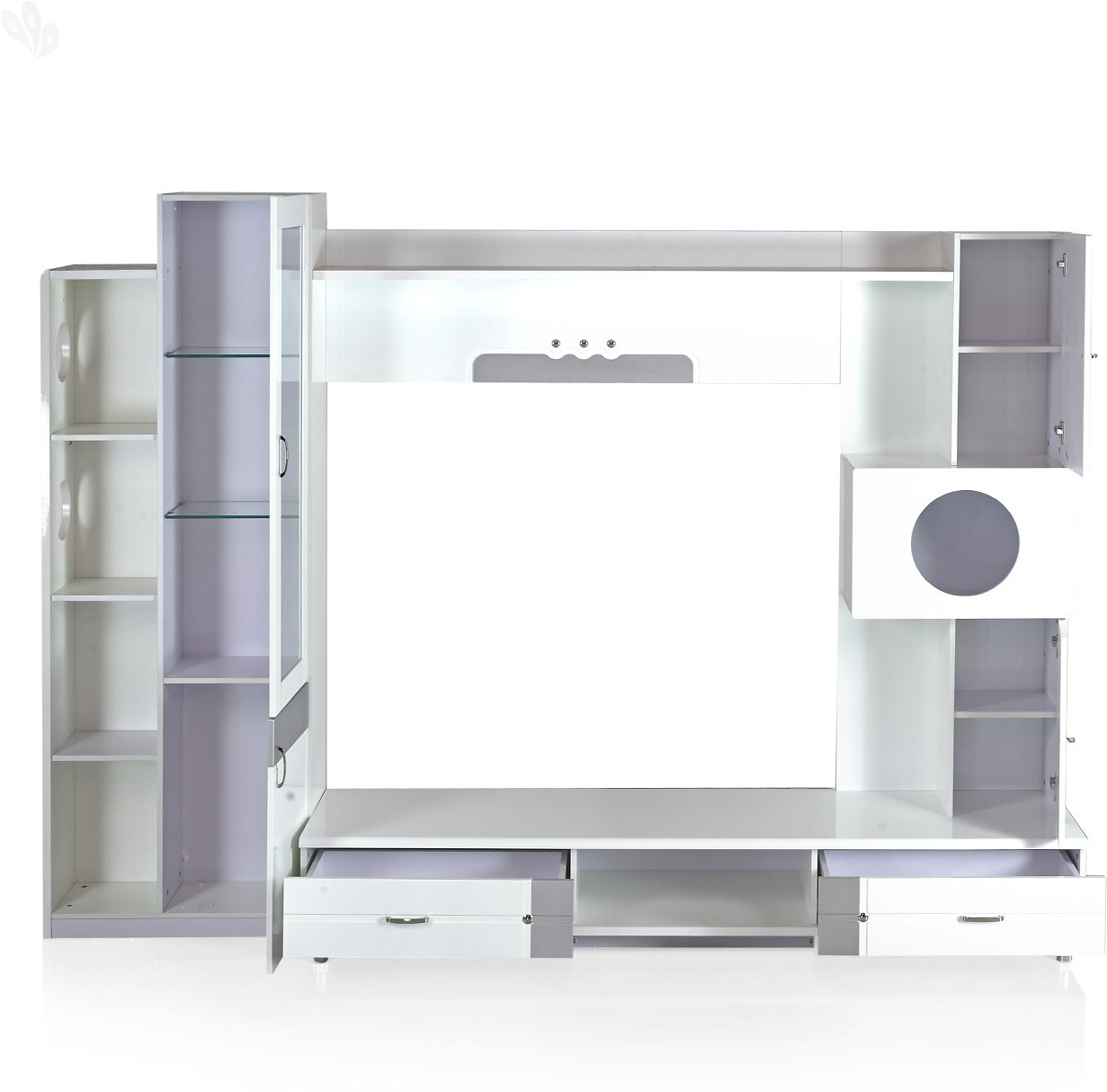 View Royal Oak Aster Engineered Wood Entertainment Unit(Finish Color - White) Furniture (Royal Oak)