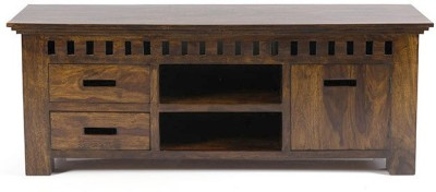 Smart Choice Furniture Rosewood (Sheesham)_JIEU09_Matte finish Solid Wood Entertainment Unit