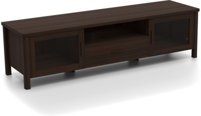 Urban Ladder Norland Glass Engineered Wood TV Console(Finish Color - Dark Walnut)